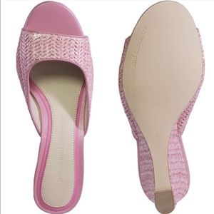 new Cupcakes + Cashmere ღ Pink Woven Wedge Sandal